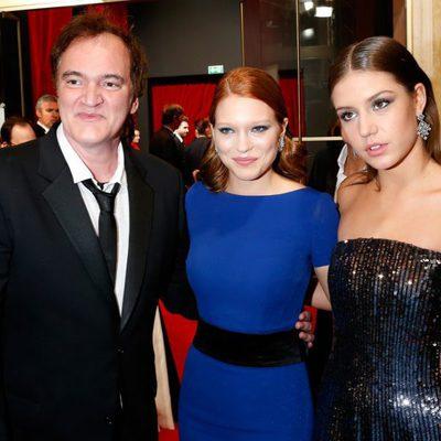 Quentin Tarantino, Lea Seydoux y Adèle Exarchopoulos en los Premios César 2014