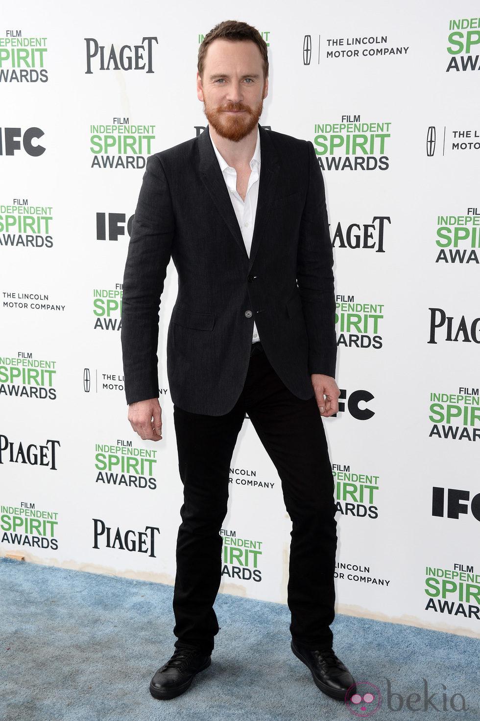 Michael Fassbender en los Independent Spirit Awards 2014