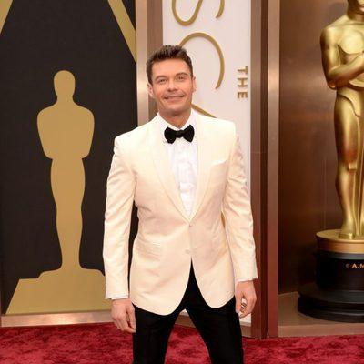Ryan Seacrest en la alfombra roja de los Oscar 2014