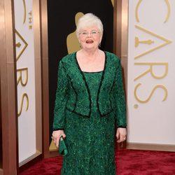 June Squibb en la alfombra roja de los Oscar 2014