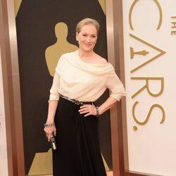 Meryl Streep en la alfombra roja de los Oscar 2014