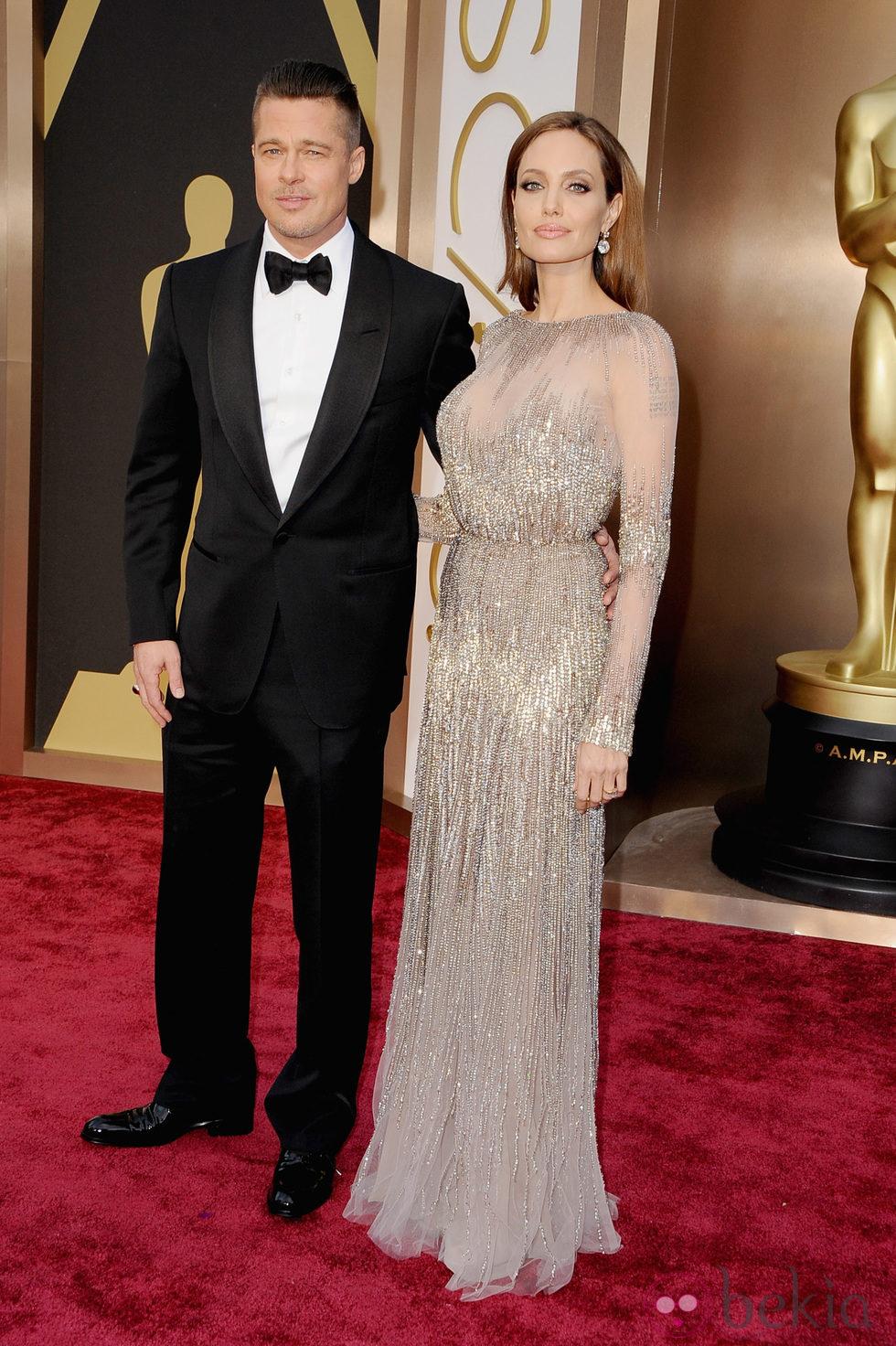 Brad Pitt y Angelina Jolie en los Oscar 2014
