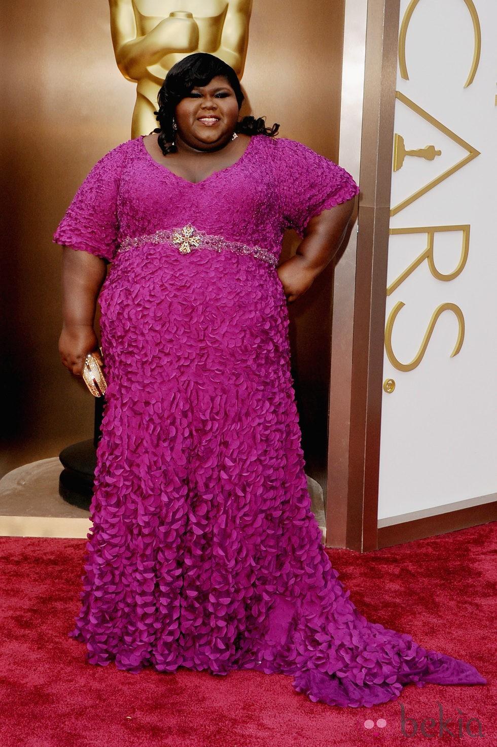 Gabourey Sidibe en la alfombra roja de los Oscar 2014