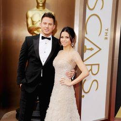 Channing Tatum y Jenna Dewan-Tatum en los Oscar 2014