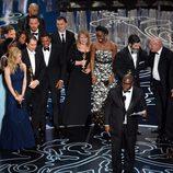El equipo de '12 años de esclavitud' en los Oscar 2014