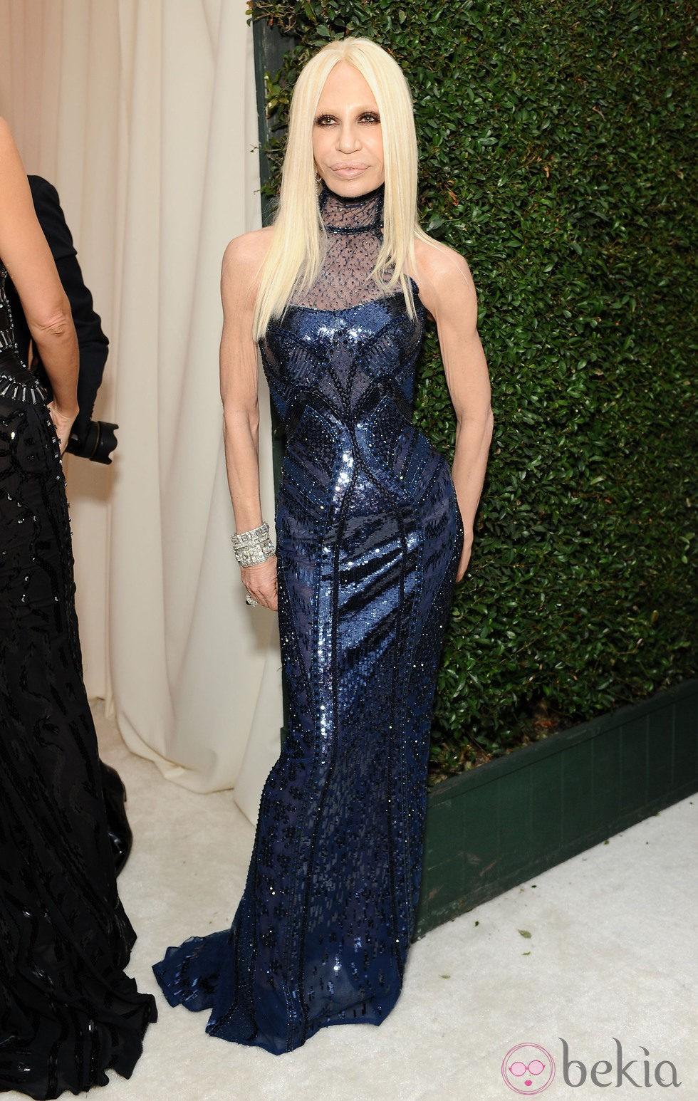 Donatella Versace en la fiesta post Oscar 2014 organizada por Elton John