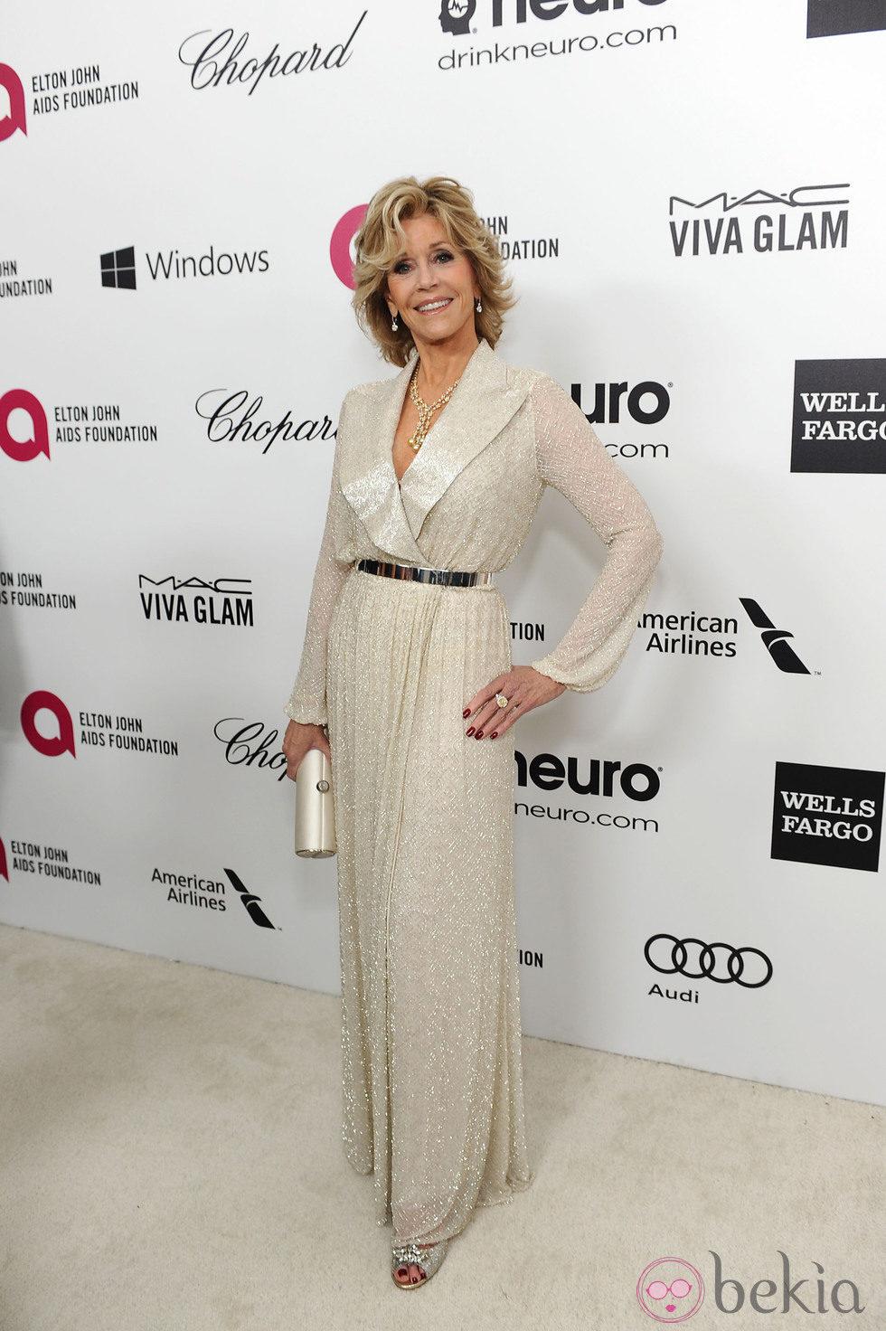 Jane Fonda en la fiesta post Oscar 2014 organizada por Elton John