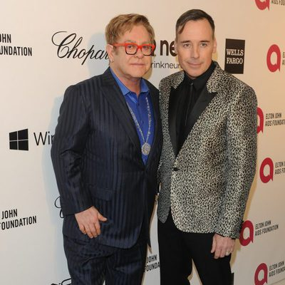 Elton John con David Furnish en la fiesta post Oscar 2014 que ha organizado