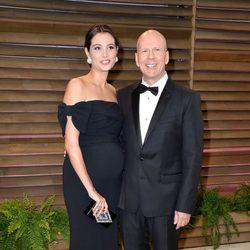 Bruce Willis y Emma Heming en la fiesta Vanity Fair tras los Oscar 2014