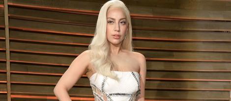 Lady Gaga en la fiesta Vanity Fair tras los Oscar 2014