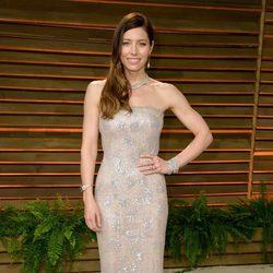 Jessica Biel en la fiesta Vanity Fair tras los Oscar 2014