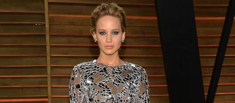 Jennifer Lawrence en la fiesta Vanity Fair en los Oscar 2014