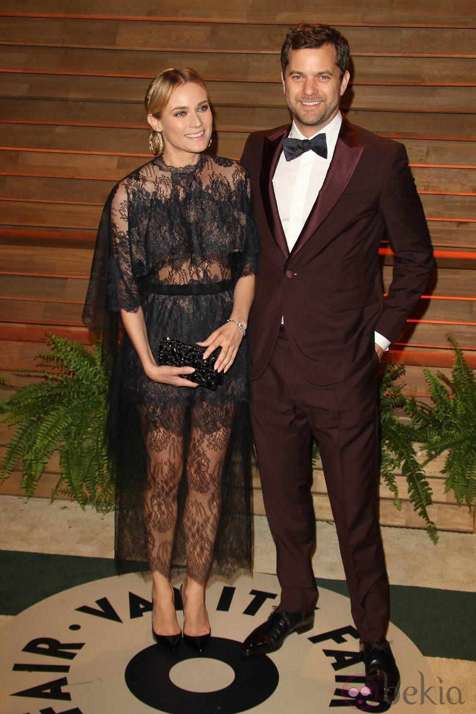 Diane Kruger y Joshua Jackson en la fiesta Vanity Fair tras los Oscar 2014