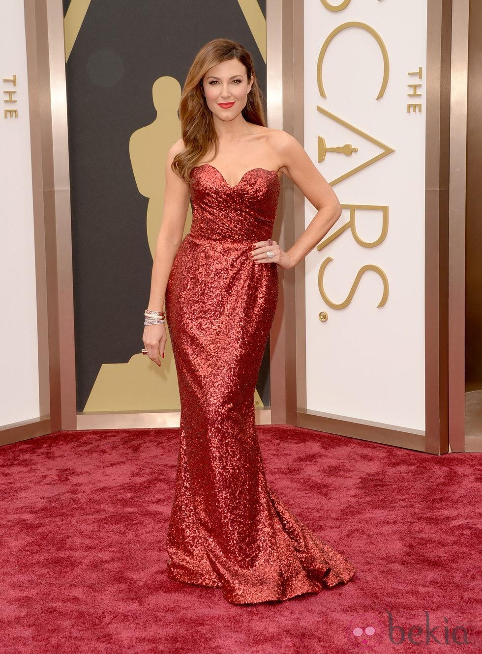 Thea Andrews en la alfombra roja de los Oscar 2014