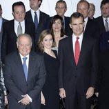 Los Príncipes Felipe y Letizia en el homenaje a Enrique V. Iglesias