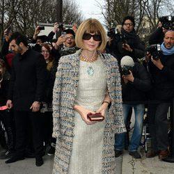 Anna Wintour en el desfile de Chanel de la Paris Fashion Week