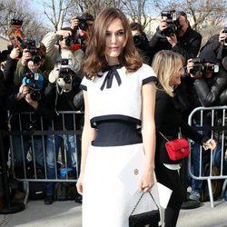 Keira Knightley en el desfile de Chanel de la Paris Fashion Week