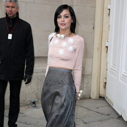 Leigh Lezark en el desfile de Chanel de la Paris Fashion Week