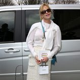 Melanie Griffith en el desfile de Chanel de la Paris Fashion Week