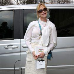 Melanie Griffith en el desfile de Chanel de la Paris Fashion Week