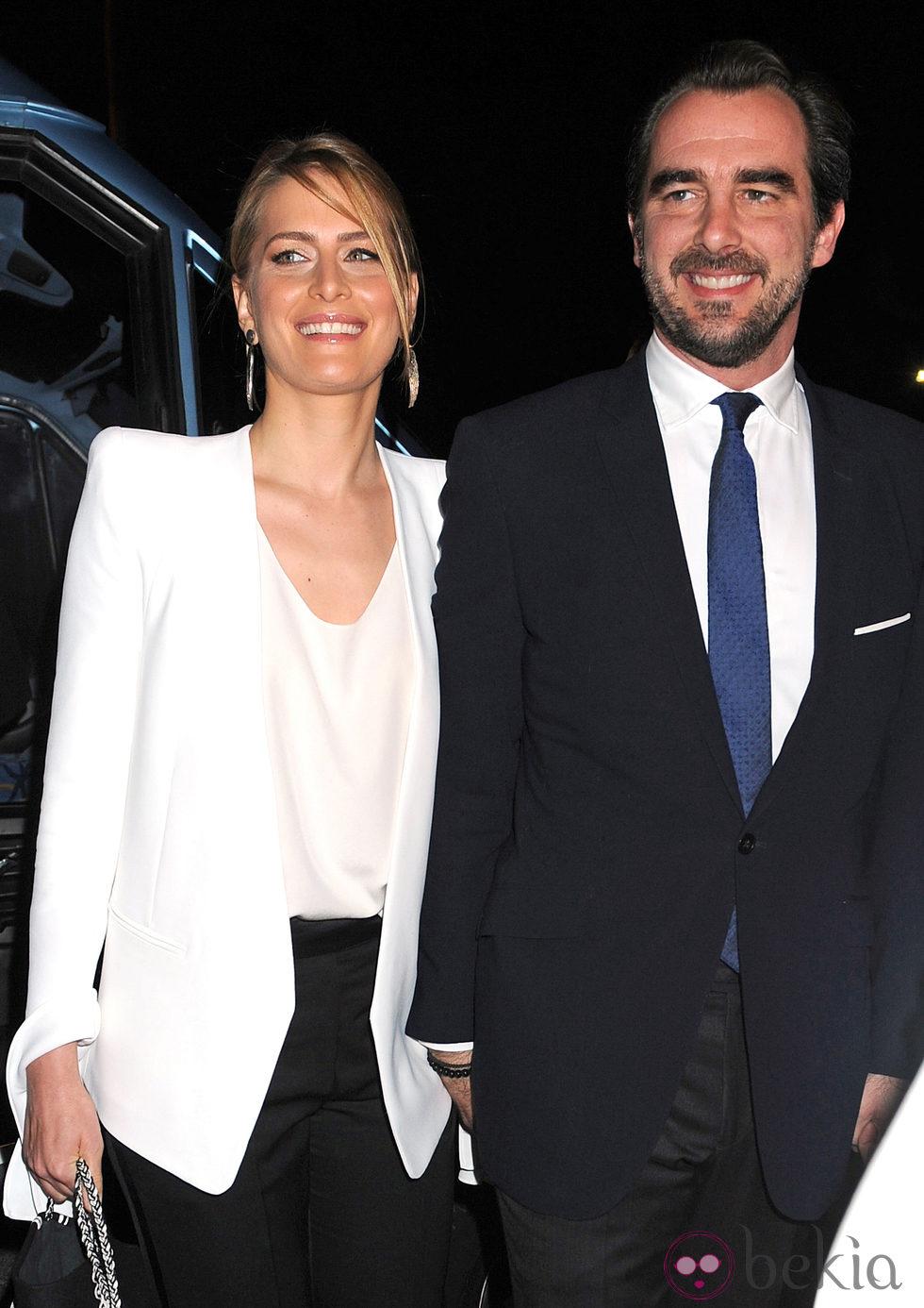 Nicolás de Grecia y Tatiana Blatnik en la proyección del documental sobre Pablo de Grecia
