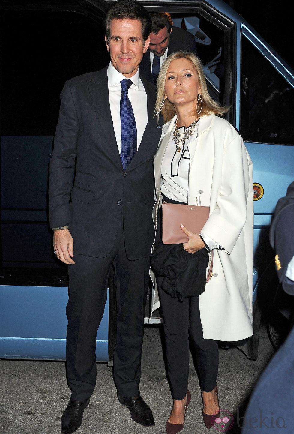 Los Príncipes Pablo y Marie Chantal de Grecia en la proyección del documental sobre Pablo de Grecia