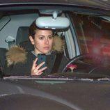 Blanca Suárez llegando en su coche a casa de Dani Martín