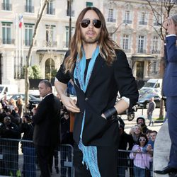 Jared Leto en el desfile de Miu Miu en la Paris Fashion Week 2014