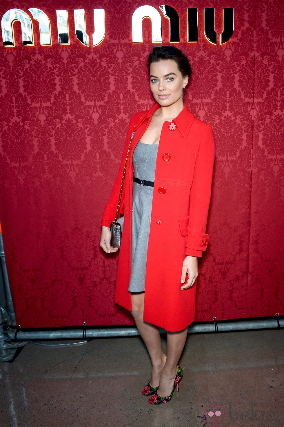 Margot Robbie en el desfile de Miu Miu en la Paris Fashion Week 2014