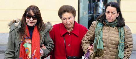 La Infanta Margarita con unas amigas el día de su 75 cumpleaños