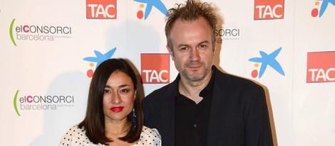 Tristán Ulloa y Carolina Román en la entrega de los Premios Zapping 2014