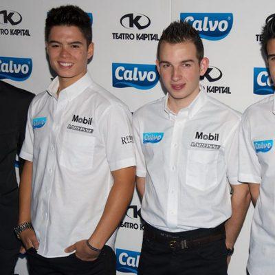 Pablo Nieto y el Team Calvo 2014 en la presentación del equipo en Madrid