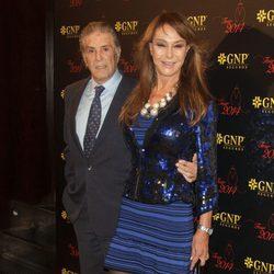 Jaime Ostos y María Ángeles Grajal en la fiesta de Morante de la Puebla