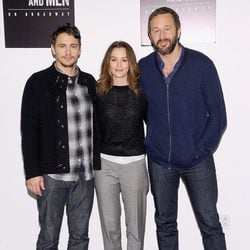 James Franco, Leighton Meester y Chris O'Dowd presentan 'Of Mice And Men'