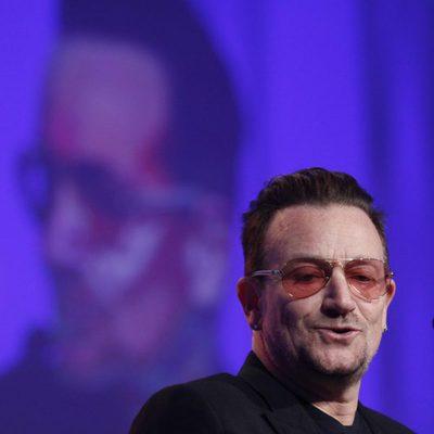 Bono durante su intervención en el congreso del Partido Popular Europeo en Dublín