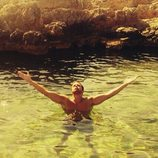 Pablo Alborán disfrutando del mediterráneo