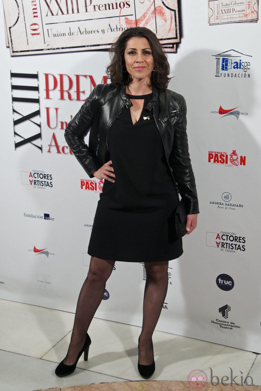 Alicia Borrachero en la entrega de los Premios Unión de Actores 2014