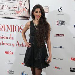 Alba Flores en la entrega de los Premios Unión de Actores 2014