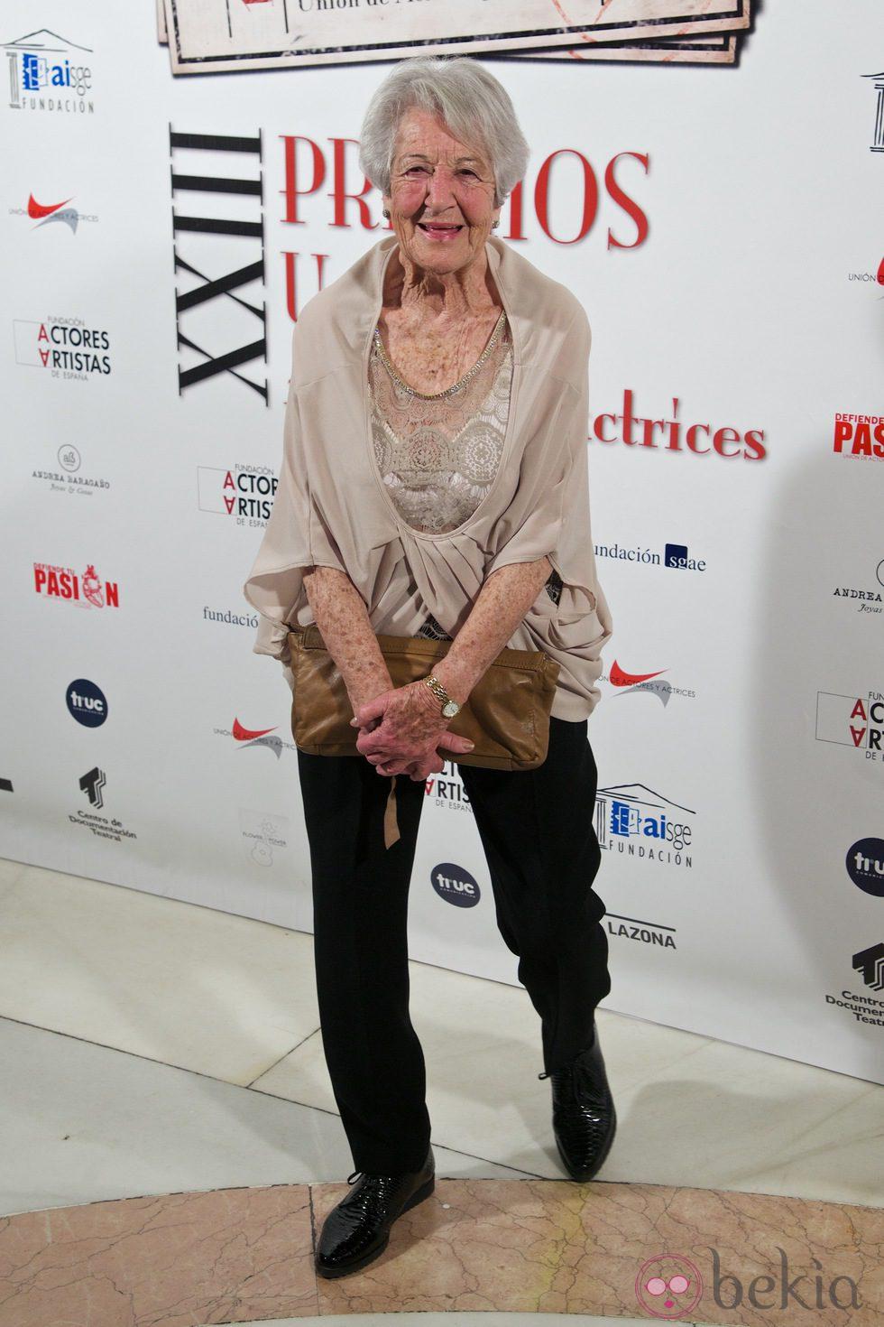 Asunción Balaguer en la entrega de los Premios Unión de Actores 2014