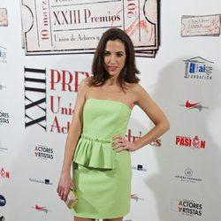 Alicia Rubio en la entrega de los Premios Unión de Actores 2014