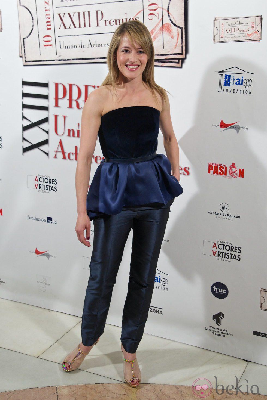 Marta Larralde en la entrega de los Premios Unión de Actores 2014