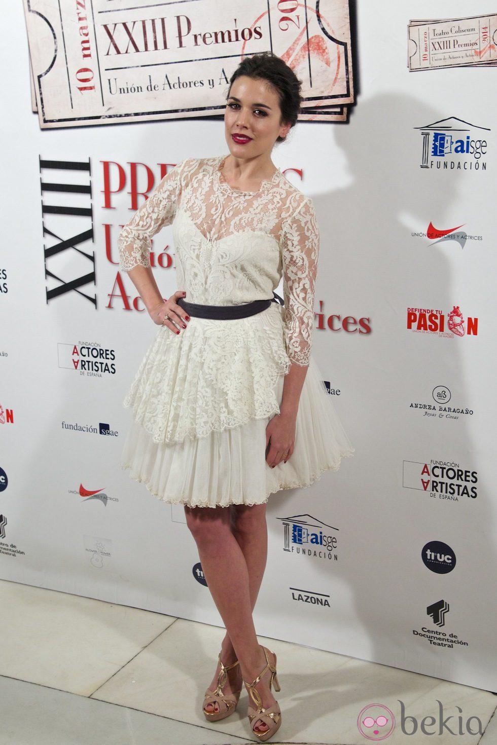 Adriana Ugarte en la entrega de los Premios Unión de Actores 2014