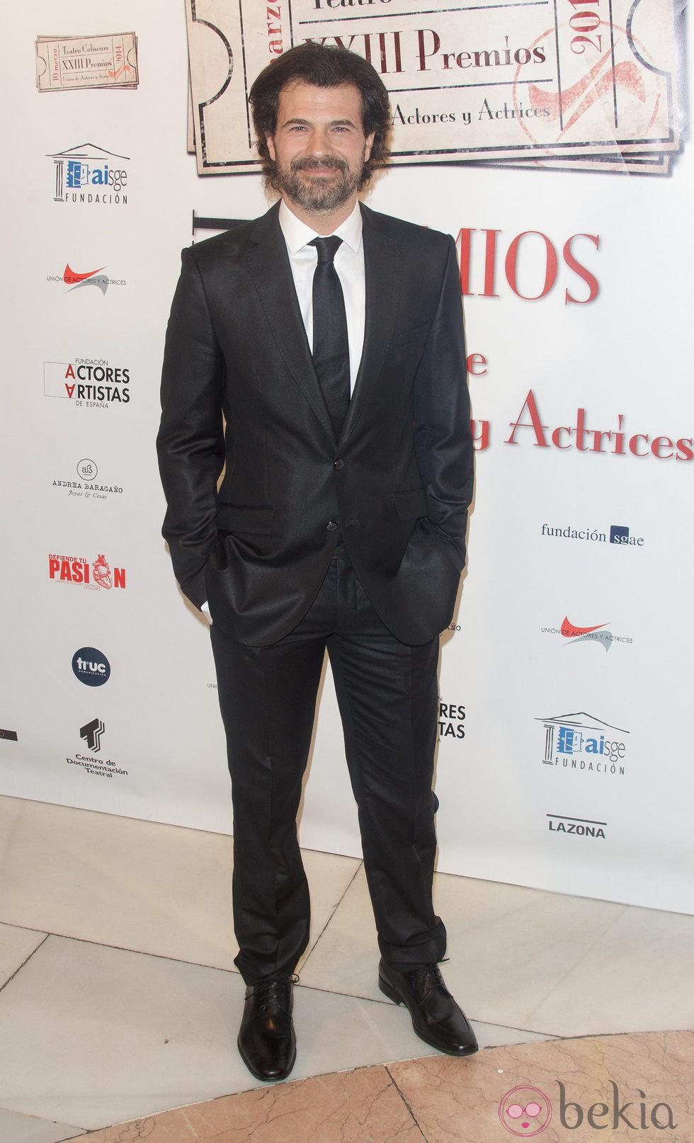 Rodolfo Sancho en la entrega de los Premios Unión de Actores 2014