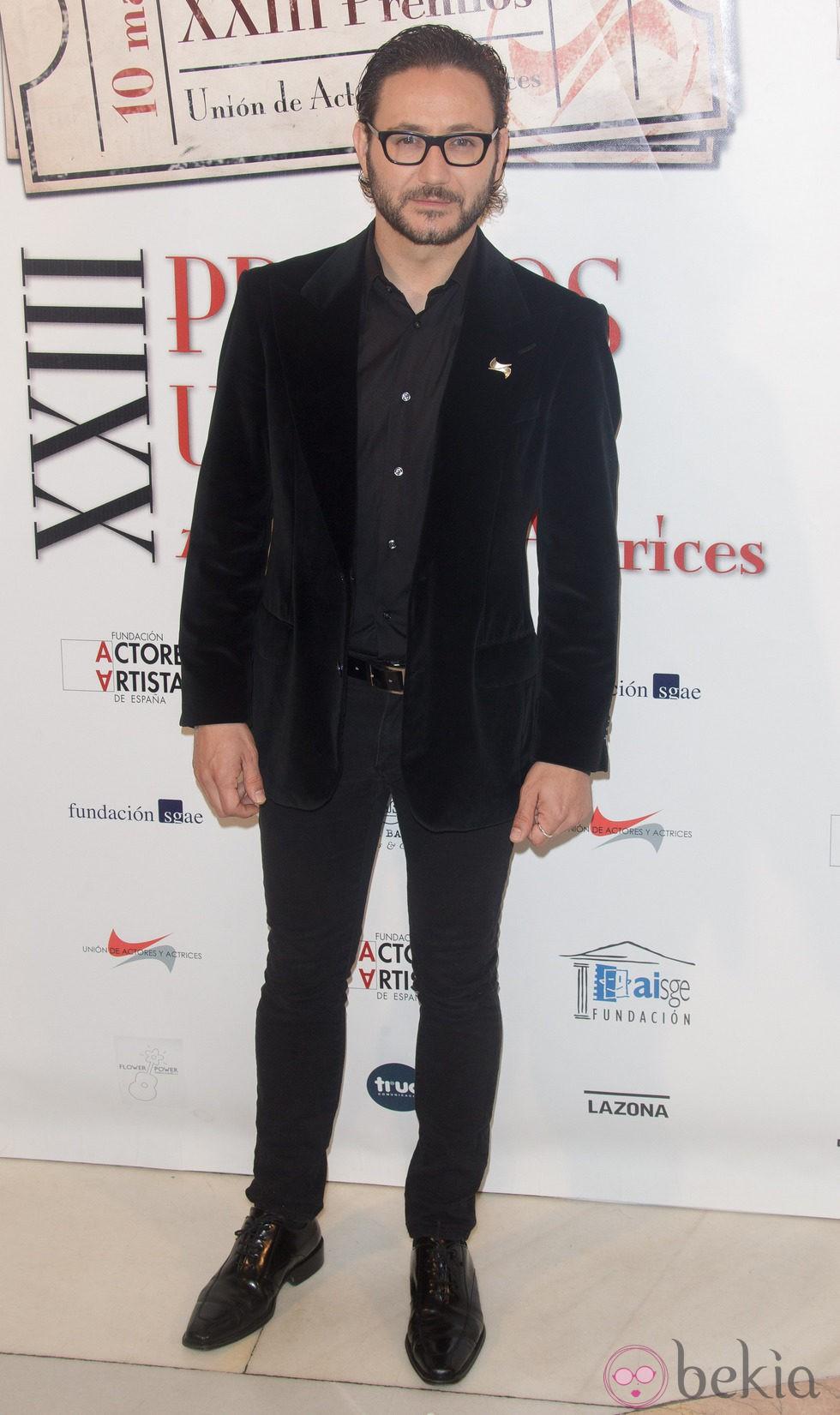 Carlos Santos en la entrega de los Premios Unión de Actores 2014