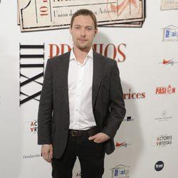 Jan Cornet en la entrega de los Premios Unión de Actores 2014