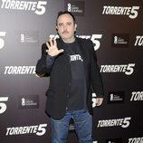 Carlos Areces en la presentación del fin del rodaje de 'Torrente 5'