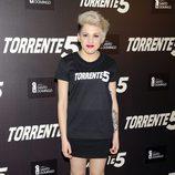 Angy Fernández en la presentación del fin del rodaje de 'Torrente 5'