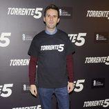 Julián López en la presentación del fin del rodaje de 'Torrente 5'