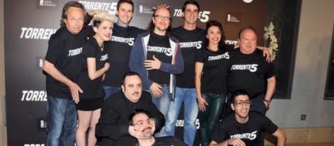 El equipo de 'Torrente 5' en la presentación del fin del rodaje
