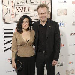 Tristán Ulloa y Carolina Román en los Premios Unión de Actores 2014